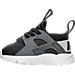 Left view of Kids' Toddler Nike Air Huarache Run Ultra Casual Shoes in Anthracite/Pure Platinum/Cool Grey