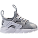 Right view of Kids' Toddler Nike Air Huarache Run Ultra Casual Shoes in Metallic Silver/White