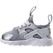 Left view of Kids' Toddler Nike Air Huarache Run Ultra Casual Shoes in Metallic Silver/White