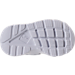 Bottom view of Kids' Toddler Nike Air Huarache Run Ultra Casual Shoes in Metallic Silver/White