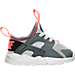 Right view of Girls' Toddler Nike Air Huarache Run Ultra Casual Shoes in Pure Platinum/Anthracite/Lava Glow