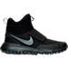 Right view of Boys' Grade School Nike Roshe Mid Winter Stamina Sneaker Boots in Black/Black/Anthracite
