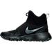 Left view of Boys' Grade School Nike Roshe Mid Winter Stamina Sneaker Boots in Black/Black/Anthracite