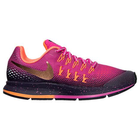 Girls' Grade School Nike Zoom Pegasus 33 Shield Running Shoes