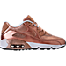 Right view of Girls' Grade School Nike Air Max 90 SE Leather Running Shoes in