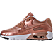 Left view of Girls' Grade School Nike Air Max 90 SE Leather Running Shoes in