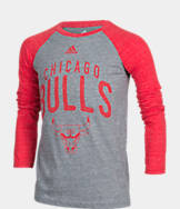 Kids' adidas Chicago Bulls NBA Long-Sleeve Pedigree T-Shirt