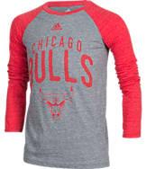 Kids' adidas Chicago Bulls NBA Long-Sleeve Pedigree T-Shirt