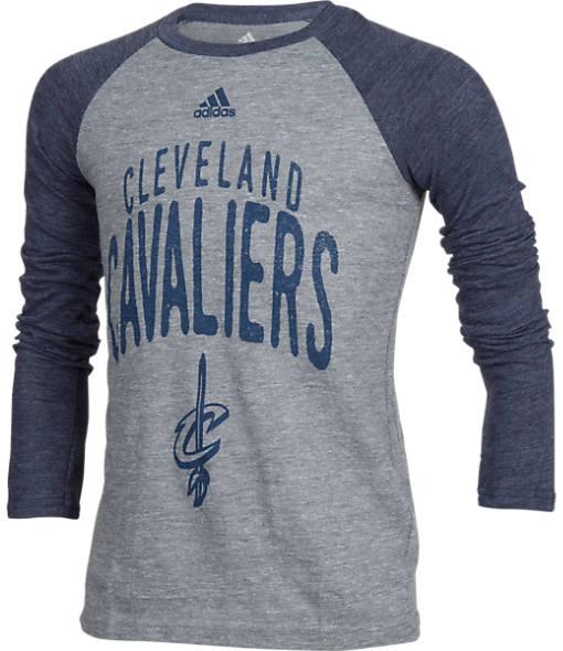 Kids' adidas Cleveland Cavaliers NBA Long-Sleeve Pedigree T-Shirt