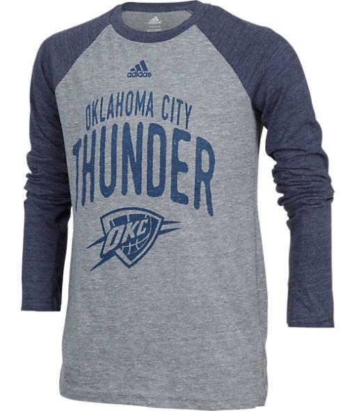 Kids' adidas Oklahoma City Thunder NBA Long-Sleeve Pedigree T-Shirt