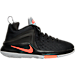 Right view of Boys' Grade School Nike LeBron Zoom Witness Basketball Shoes in Black/Total Crimson