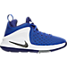 Right view of Boys' Grade School Nike LeBron Zoom Witness Basketball Shoes in Game Royal/Metallic Dark Grey