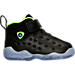 Right view of Boys' Toddler Jordan Jumpman Team II Premium Basketball Shoes in Black/Electric Green/Concord