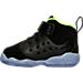 Left view of Boys' Toddler Jordan Jumpman Team II Premium Basketball Shoes in Black/Electric Green/Concord