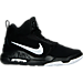 Right view of Men's Nike Air Conversion Basketball Shoes in Black/White