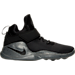 Right view of Men's Nike Kwazi SE Off-Court Shoes in Black/Black/Dark Grey