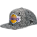 Front view of New Era Los Angeles Lakers NBA Boost Hook Snapback Hat in Grey