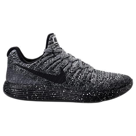 NIKE Women'S Lunarepic Low Flyknit 2 Running Sneakers From Finish Line,  Black/Black-