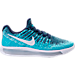 Right view of Women's Nike LunarEpic Low Flyknit 2 Running Shoes in Binary Blue/White/Polarized Blue