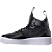 Left view of Women's Nike Air Force 1 Ultraforce Mid Casual Shoes in Black/Black/White