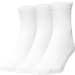 Back view of Men's Finish Line Basic Half Crew 3-Pack Socks in White