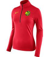 Women's Nike Atlanta Hawks NBA Dry Element Half-Zip Top