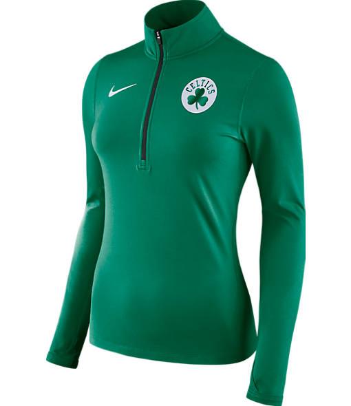 Women's Nike Boston Celtics NBA Dry Element Half-Zip Top