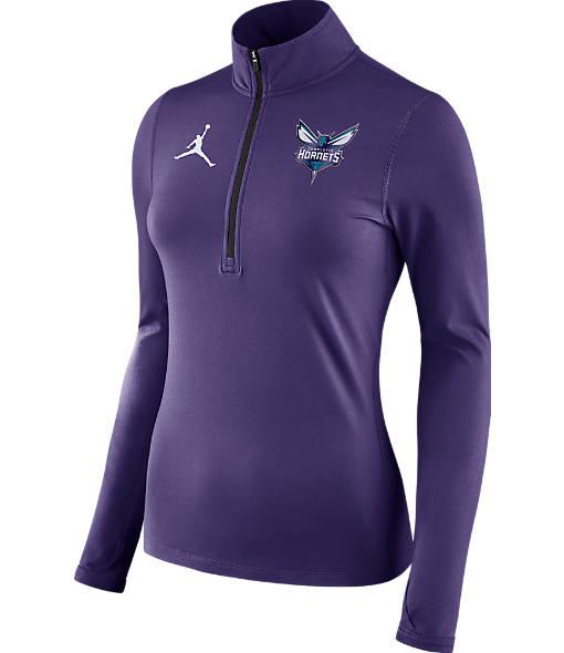 Women's Jordan Charlotte Hornets NBA Dry Element Half-Zip Top