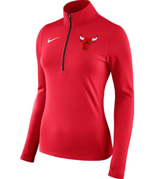 Women's Nike Chicago Bulls NBA Dry Element Half-Zip Top