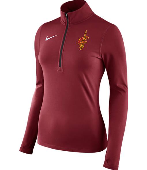 Women's Nike Cleveland Cavaliers NBA Dry Element Half-Zip Top