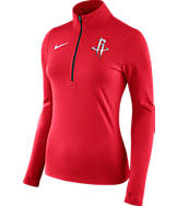Women's Nike Houston Rockets NBA Dry Element Half-Zip Top