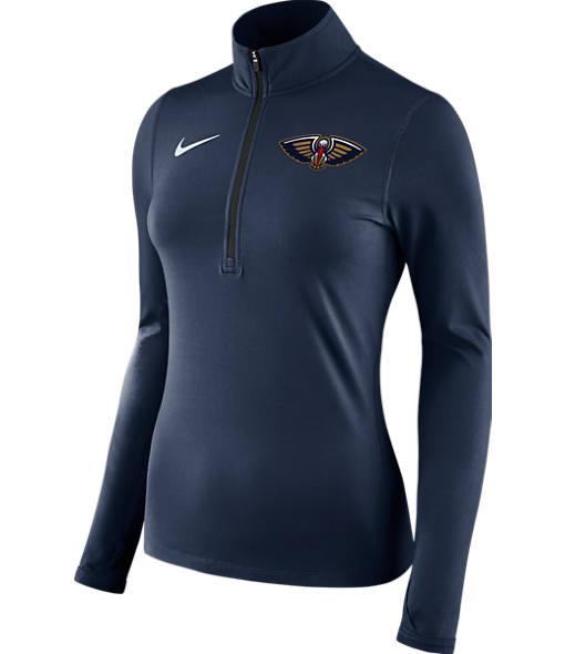 Women's Nike New Orleans Pelicans NBA Dry Element Half-Zip Top