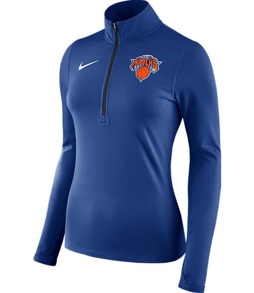 Women's Nike New York Knicks NBA Dry Element Half-Zip Top