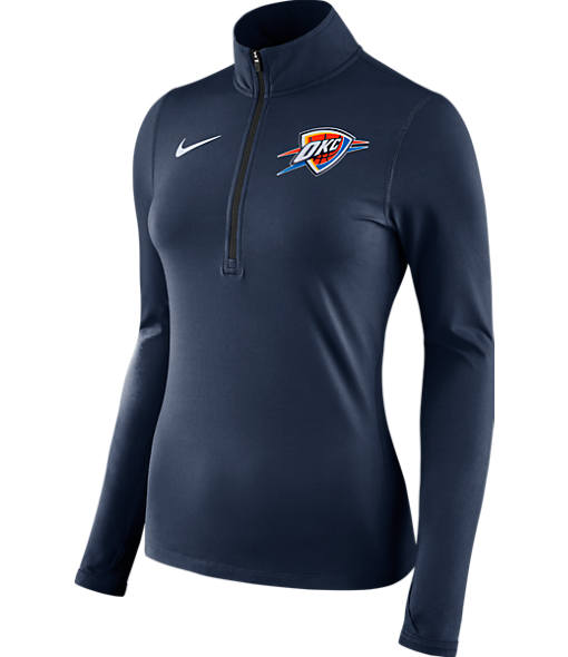 Women's Nike OKlahoma City Thunder NBA Dry Element Half-Zip Top