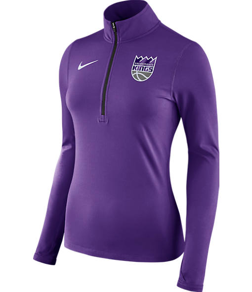 Women's Nike Sacramento Kings NBA Dry Element Half-Zip Top