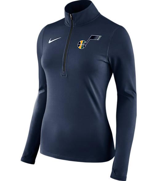 Women's Nike Utah Jazz NBA Dry Element Half-Zip Top