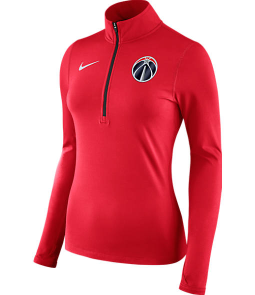 Women's Nike Washington Wizards NBA Dry Element Half-Zip Top