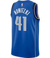 Men's Nike Dallas Mavericks NBA Dirk Nowitzki Icon Edition Connected Jersey