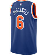 Men's Nike New York Knicks NBA Kristaps Porzingis Icon Edition Connected Jersey