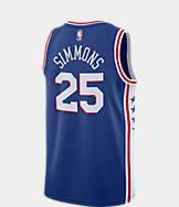 Men's Nike Philadelphia 76ers NBA Ben Simmons Icon Edition Connected Jersey