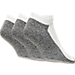 Front view of Men's Finish Line Basic Low Cut 3-Pack Socks in White/Grey