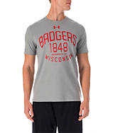 Men's Under Armour Wisconsin Badgers College Charged Cotton T-Shirt