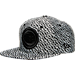 Front view of New Era Detroit Pistons NBA Boost Hook Snapback Hat in Grey