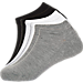 Front view of Finish Line Youth 3-Pack No Show Socks in Assorted