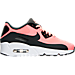 Right view of Girls' Grade School Nike Air Max 90 Ultra Essentials 2.0 Casual Shoes in Lava Glow/Anthracite/White