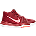 Right view of Boys' Preschool Nike Kyrie 3 Basketball Shoes in Team Red/Total Crimson/White/Pink Blast