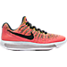 Right view of Girls' Grade School Nike LunarEpic Flyknit Low 2 Running Shoes in Hot Punch/Black/Polarized Blue