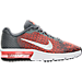 Right view of Boys' Grade School Nike Air Max Sequent 2 Running Shoes in Cool Grey/White/Max Orange