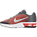 Left view of Boys' Grade School Nike Air Max Sequent 2 Running Shoes in Cool Grey/White/Max Orange