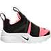 Right view of Girls' Toddler Nike Presto Extreme Running Shoes in Black/Lava Glow/White